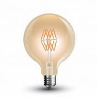 """Світлодіодна лампа V-TAC 8Вт филамент Е27 2200К G95  """"бурштинове"""" скло  NEW"""