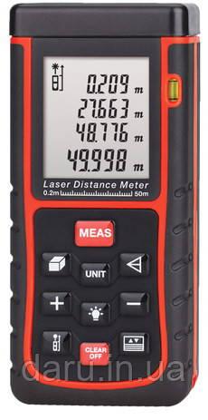 Профессиональный Лазерный Дальномер HAMMER DSL 60 (SR60WE) (0.02 м до 60.0м) С из-м V,S и по Пифагору.