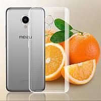 Силиконовый чехол для Meizu M5S, прозрачный