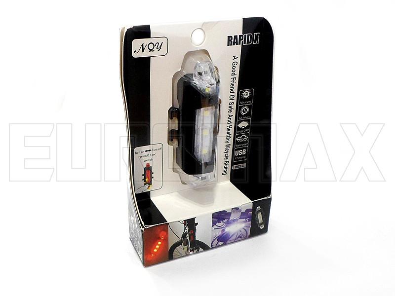 Фонарь велосипедный USB белый C02-093-W
