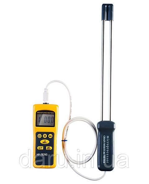 Влагомер зерна HP-7826G ( SR7826G ) (5% ~ 30%RH; -10 ~ 60 ° C).С 16 режимами. С выносным щупом