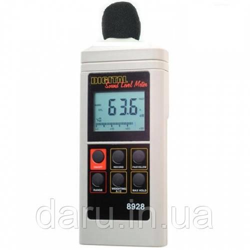 Цифровой шумомер AZ 8928 (40 - 130dB) с калибровкой диапазона измерений