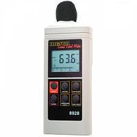Цифровой шумомер AZ 8928 (40 - 130dB) с калибровкой диапазона измерений, фото 1