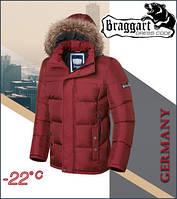 Куртка мужская с мехом на воротнике зимняя Braggart 3145 красная