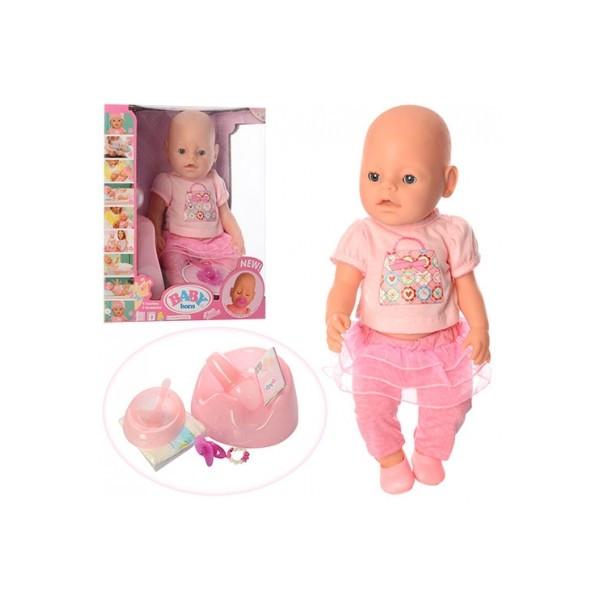 Кукла пупс Baby BORN функциональная 8 функций, 9 аксессуаров