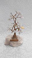 Денежное дерево с натуральными камнями высота 10см