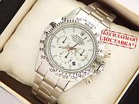 Мужские кварцевые наручные часы Rolex Daytona на металлическом ремешке, фото 1