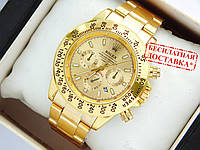Кварцевые наручные часы Rolex Daytona с датой, золото