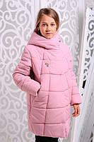 Куртка зимняя для девочки. Розовый. 122-146