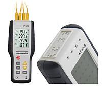 Четырёхканальный термометр Xintest HT-9815 (от -200 до +1372 °C) с термопарой К-типа, фото 1