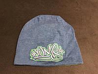 Детская шапка осень-весна с логотипом б/у