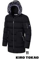 Куртка зима для мужчин черный, 48