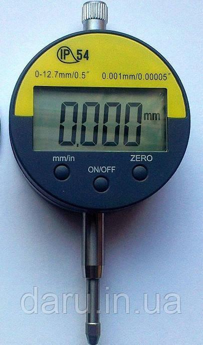 Цифровой индикатор часового типа ИЧЦ 0-12,7 мм (0,001 мм) без ушка в водозащитном корпусе IP54