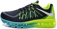 Мужские кроссовки Nike Air Max 2015 Black/Green, найк