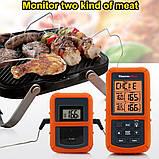 Беспроводной двухканальный термометр (до 100 м) ThermoPro TP-20 (0-300 °С) с таймером и 7 режимами для мяса, фото 2