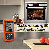 Беспроводной двухканальный термометр (до 100 м) ThermoPro TP-20 (0-300 °С) с таймером и 7 режимами для мяса, фото 3