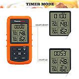 Беспроводной двухканальный термометр (до 100 м) ThermoPro TP-20 (0-300 °С) с таймером и 7 режимами для мяса, фото 5