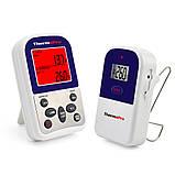 Беспроводной двухканальный термометр (до 100 м) ThermoPro TP-12 (0-300 °С) с таймером, фото 2