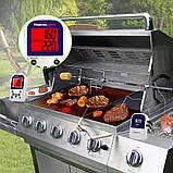 Беспроводной двухканальный термометр (до 100 м) ThermoPro TP-12 (0-300 °С) с таймером, фото 4