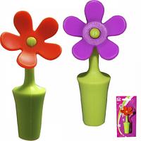 Стоппер для бутылки Цветок силиконовая