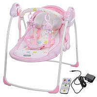 Детская кресло-качеля Bambi розовая 32005