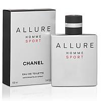 Мужская туалетная вода Chanel Allure Homme Sport 100 ml + 5 мл в подарок (реплика)