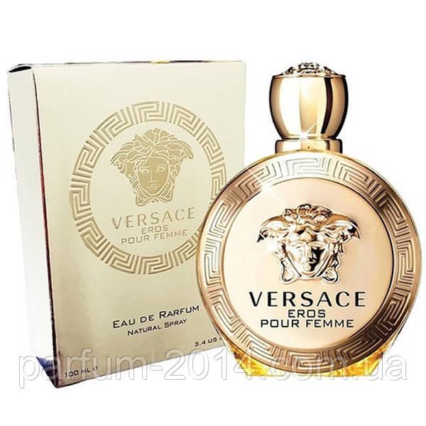 Женская парфюмированная вода Versace Eros Pour Femme + 5 мл в подарок (реплика)