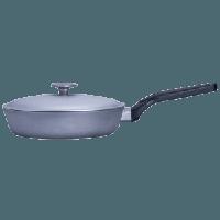 Сковорода алюминиевая Talko с крышкой и утолщенным дном, 26 см
