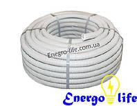 Гофра для кабеля ПВХ 25мм с протяжкой (бухта 100м.) для скрытой проводки силовых и слаботочных линий внутри по