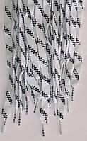Шнурки плоские бело-черные 100см синтетика