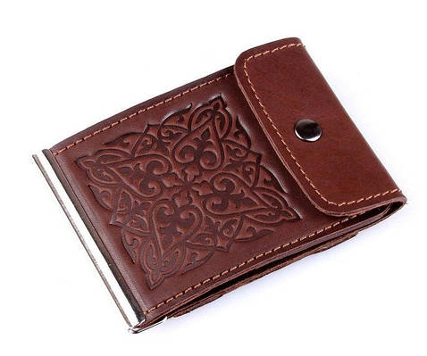Кожаный зажим для денег бренда Кажан