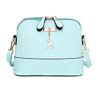 Женская небольшая Бирюзовая сумка через плечо/на плечо , фото 1
