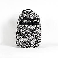 Городской рюкзак молодежный Crews Mishka bl Red and Dog 22л. (мужской рюкзак, женский рюкзак, школьный рюкзак)