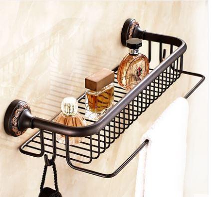 Полочка настенная с вешалкой и крючками в ванную 0458