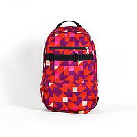 Городской рюкзак молодежный Crews abstract Red and Dog 22л. (мужской рюкзак, женский рюкзак, школьный рюкзак)