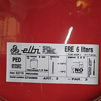 Гидроаккумулятор, расширительный бак для отопления, 6л, Elbi ERP-320/6 (плоский), плоский, Elbi