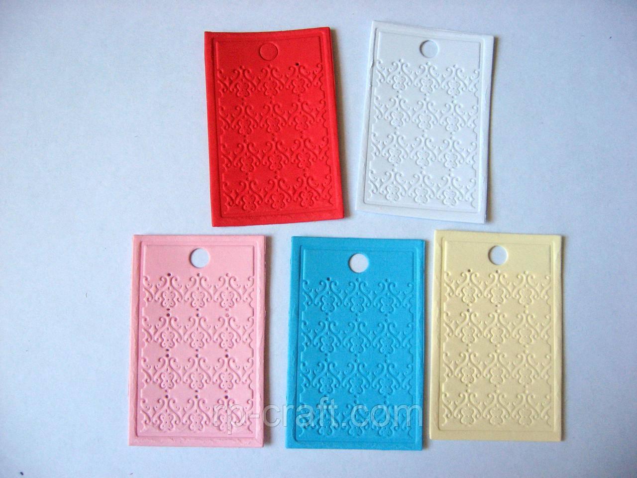 Набор бирок из бумаги или картона. 20 штук, геометрический орнамент, 40х63 мм