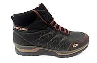 Ботинки мужские Salomon кожа/замша зимние коричневые Sa0005