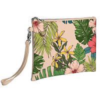 Клатч Mollie пудровый с принтом Летные цветы