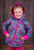 Демисезонная куртка для девочки на флисе  р.110-146 МАЛОМЕРИТ