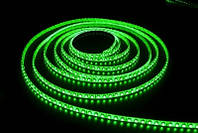 Светодиодная лента зеленый SMD 3528 60 диодов на метр IP65 герметичная (в силиконе)