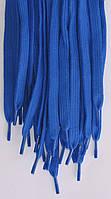 Шнурки плоские василькового цвета 100см синтетика