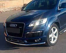 Кенгурятник одинарный ус на Audi Q7 (2005-2015) Ауди кью 7 PRS