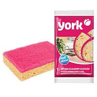 Классическая целюлозная кухонная губка York HIM-Y-035010