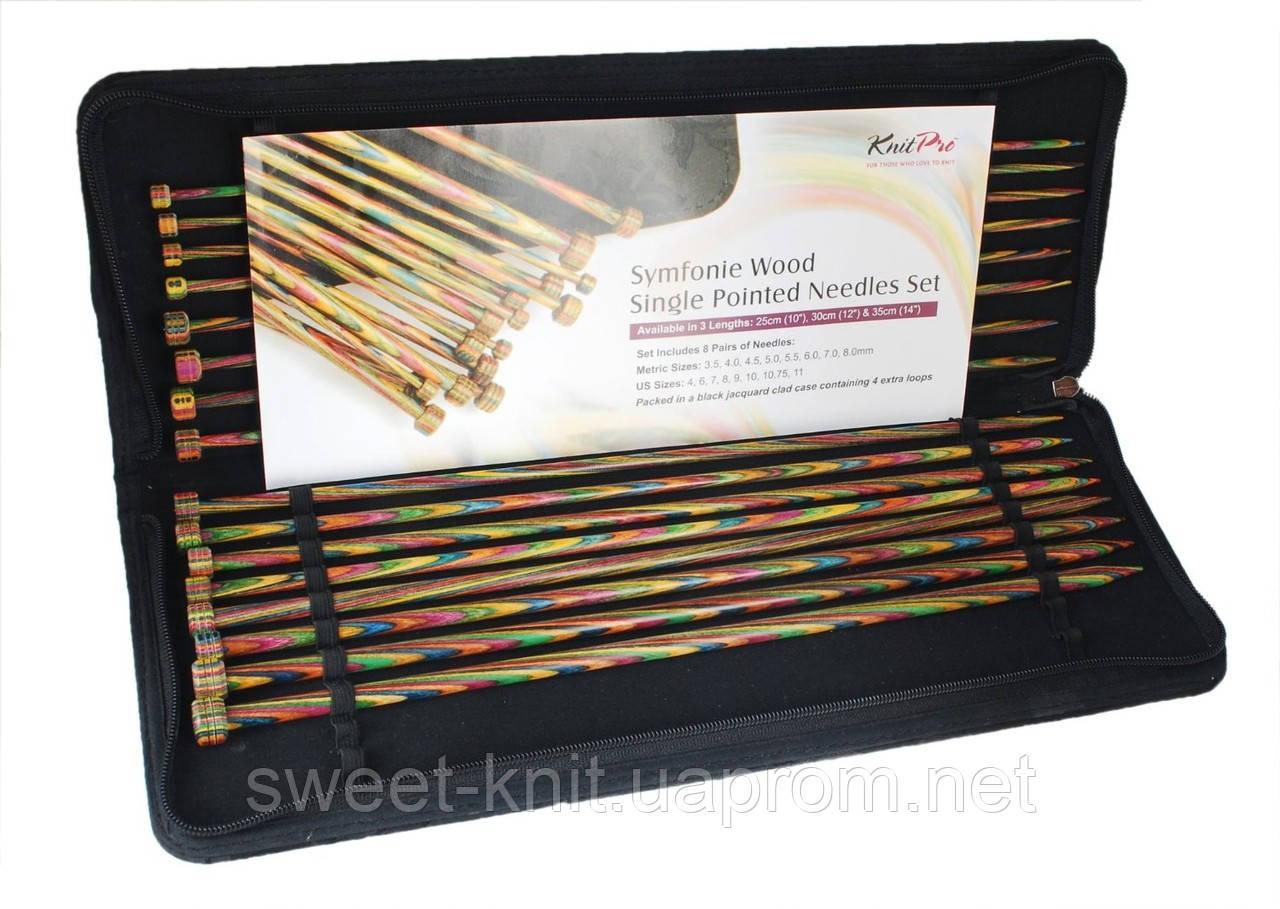 Набор деревянных прямых спиц 30 см Symfonie Wood KnitPro