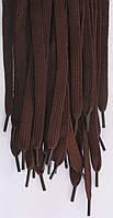 Шнурки плоские темно коричневые 100см синтетика
