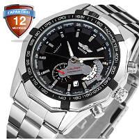 Механические часы с автоподзаводом Winner Сhronometer (black)  - гарантия 12 месяцев