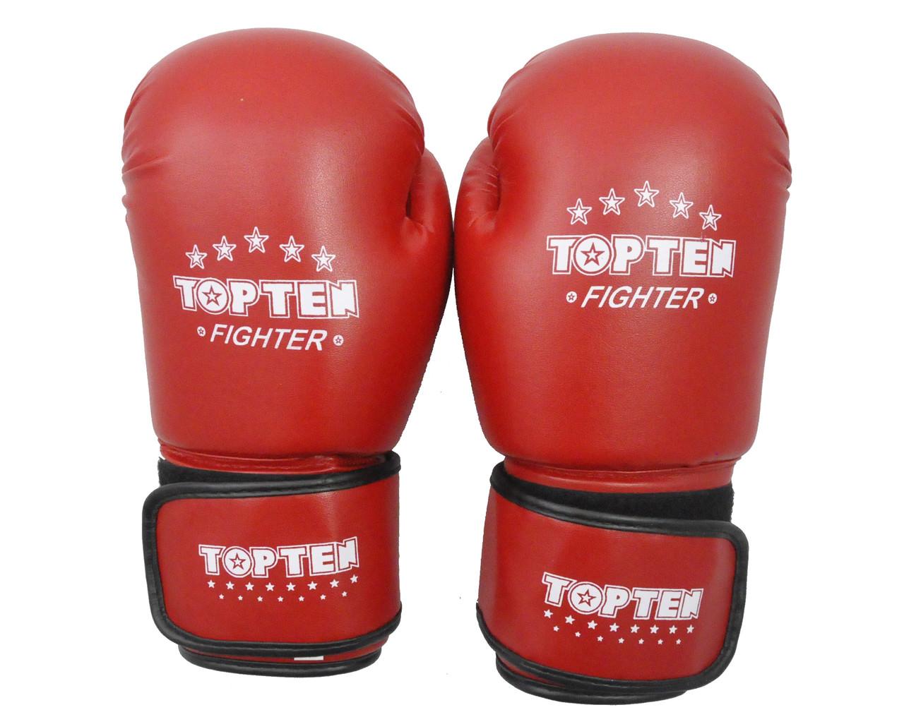 Рукавички боксерські DX на липучці TopTen TT3148-12R 12 oz червоні