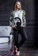 Флисовая пижама женская (комплект домашний)  Key LHS 817 B7