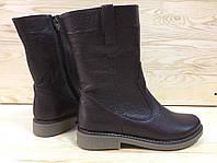 Женские кожаные ботинки шоколадного цвета. Возможен отшив в других цветах, фото 1